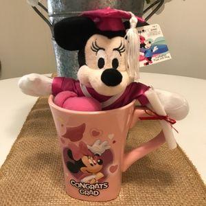 Graduation Minnie Mouse Plush Doll & Mug